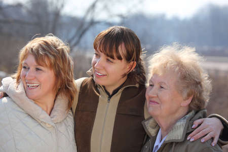 Women of three generations of one family photo