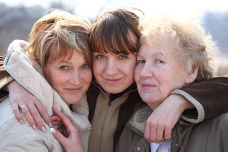 three generations of women: Grandmother, daughter and grand daughter