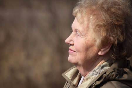 Profile of aged woman Stock Photo - 5361253