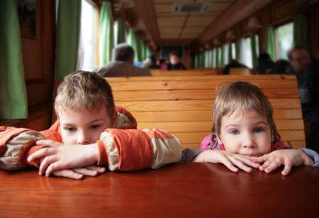 wastrel: Two children in train