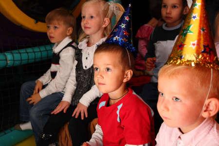 Children on holiday in kindergarten photo