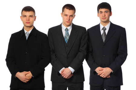 Three standing young businessmen Stock Photo - 5366368