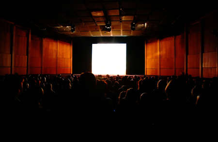 Movie theater: in cinema, focus on screen
