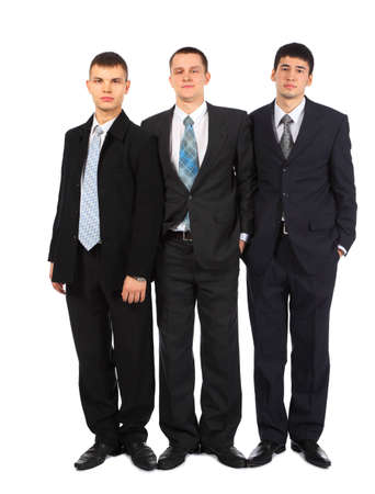 Three standing young businessmen Stock Photo - 5358811