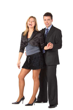 Businessman and beauty girl Stock Photo - 5366956