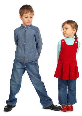 dactylology: boy with girl represent  letter N