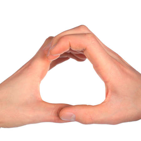 dactylology: hands represents letter O from alphabet