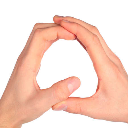 hands represents letter Q from alphabet photo