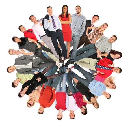 mensen kring: menigte mensen cirkel collage