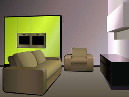 Plastik: kitchen 9 green vector