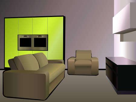 highend: kitchen 9 green vector