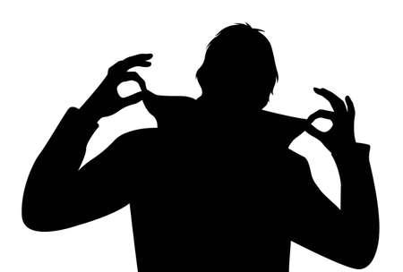 koel: vector cool man met vingers