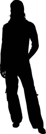 vector silhouette man Stock Vector - 6629686