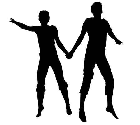 vector couple jump.  Vector