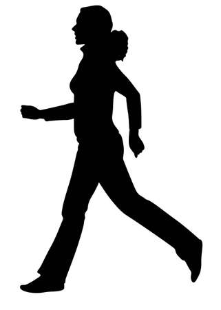 woman run: vector running girl