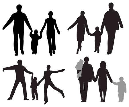家族のベクトル ベクターイラストレーション