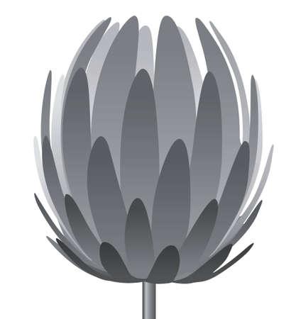 piso negro: flor de la l�mpara de pie de vector