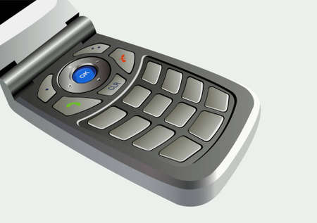 flip phone: mobile phone buttons vector