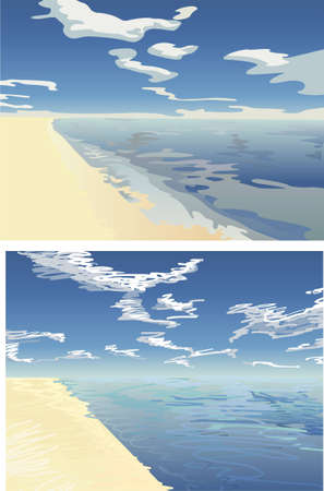 ray tracing: endless beach 2 vector