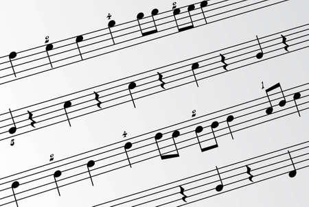 music notes 3 closeup vector