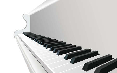 keyboard player: piano vector Illustration