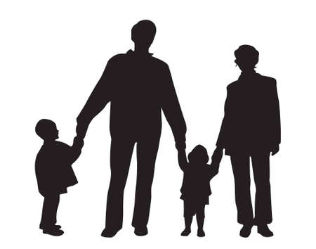 family of four vector Stock Vector - 6627391
