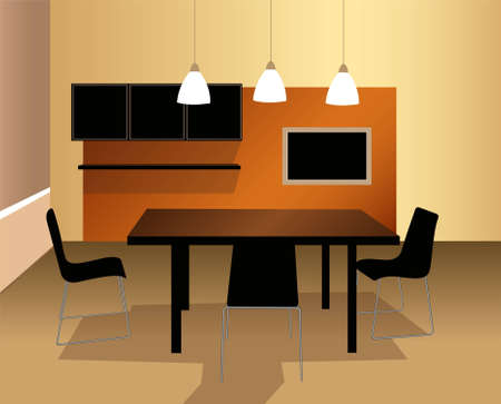 dining room vector Vector