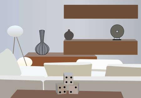 interior white vector room
