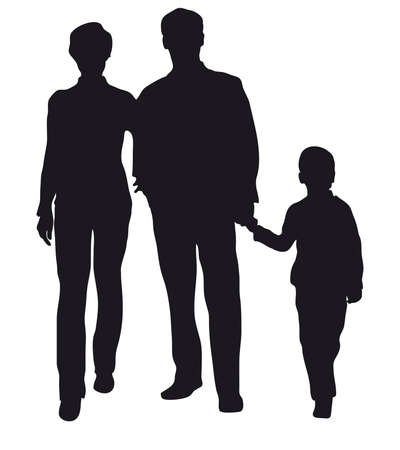 family with son vector Stock Vector - 6627191