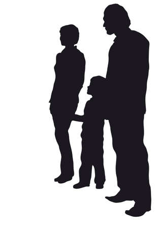 family with son Stock Vector - 6627174
