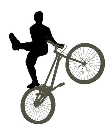 stunt: bike trick vector