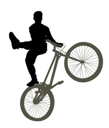 stunts: bike trick vector
