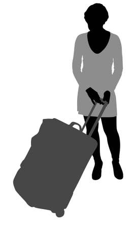 woman with bag vector Vector