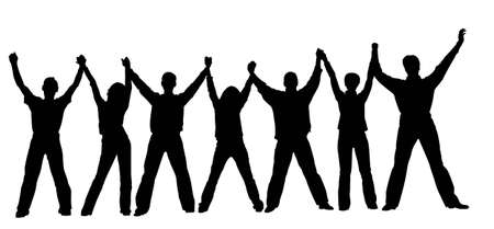 joy of life: people chain vector