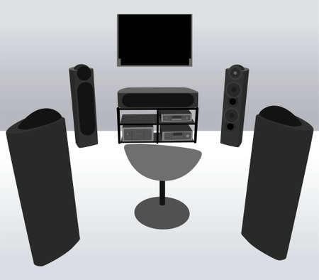 home theater: home theater vector Illustration