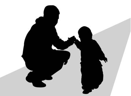 father with baby vector Stock Vector - 6627350