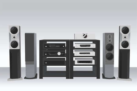 public speaker: hi-fi music 2 vector
