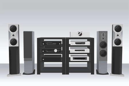 home theater: hi-fi music 2 vector