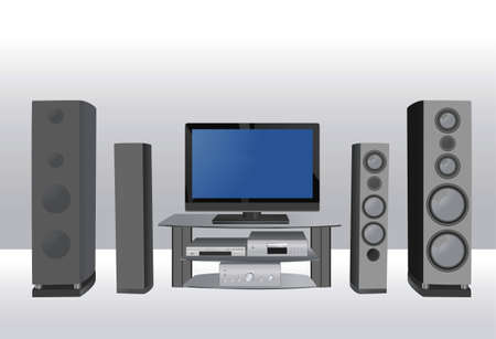 dvd room: home theater 6 vector