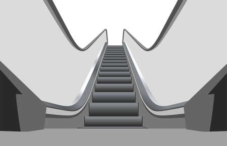 view of a staircase in a shop: shop escalator 3 vector