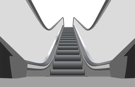 shopping center: shop escalator 3 vector
