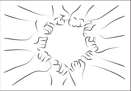 fist group vector Vector