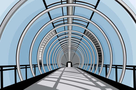 elevated walkway: Elevated transition vector