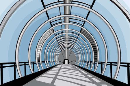 pedestrian walkway: Elevated transition vector
