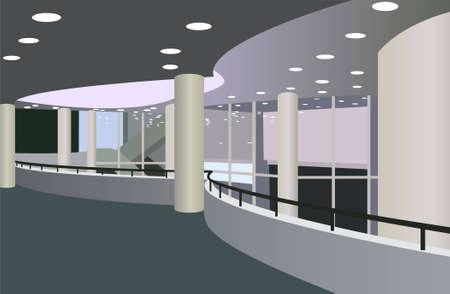 balcón en el vestíbulo del vector de sala de concierto  Ilustración de vector