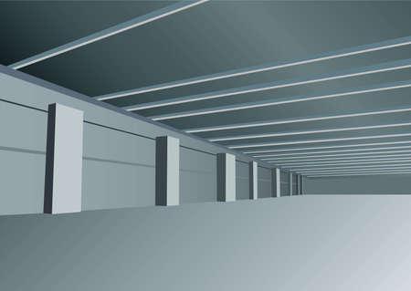 storehouse: Sala de indastrial de vector