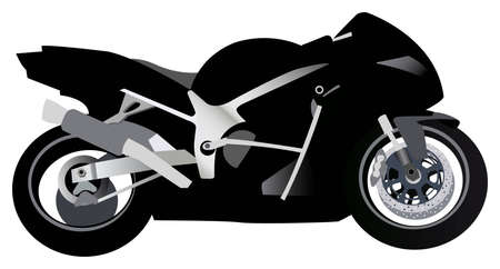 motorcycle racing: sport motorcycle vector Illustration