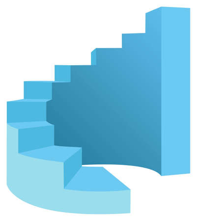 vector round stair Stock Vector - 6624672
