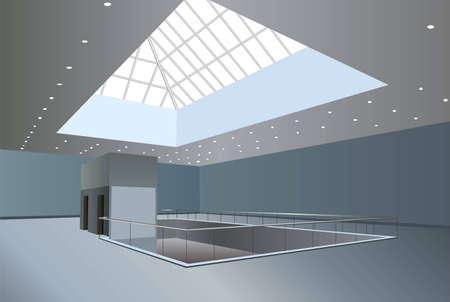 centre d affaires: Business Centre int�rieur vecteur Illustration