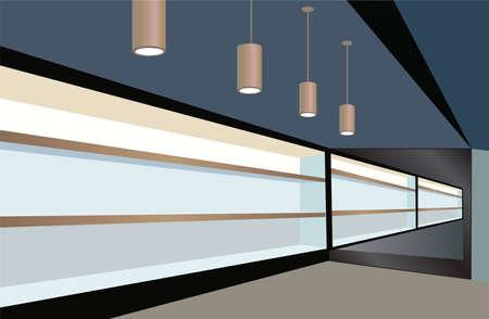 shelfs in store vector